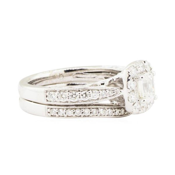 1.43 ctw Diamond Ring & Wedding Band - 14KT White Gold