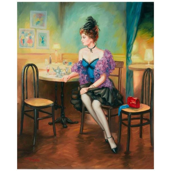 "Taras Sidan, ""Dinner"" Hand Signed Limited Edition Giclee on Canvas with Letter o"