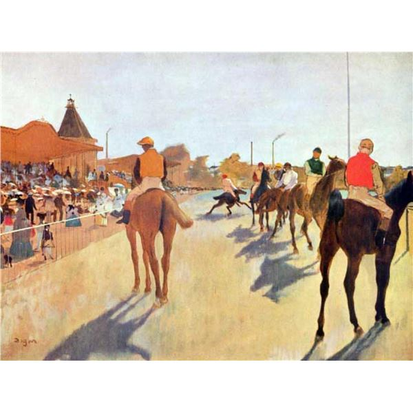 Edgar Degas - Jockeys In Front Of The Grandstand