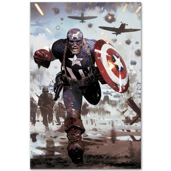 "Marvel Comics ""Captain America #615"" Numbered Limited Edition Giclee on Canvas b"