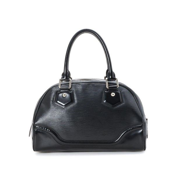 Louis Vuitton Black Epi Leather Bowling Montaigne PM Handbag