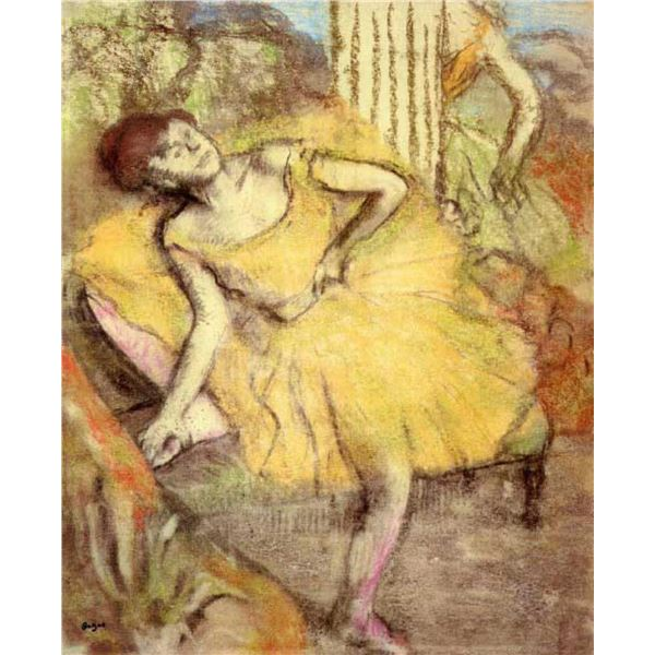 Edgar Degas - Sitting Dancer With The Right Leg Up