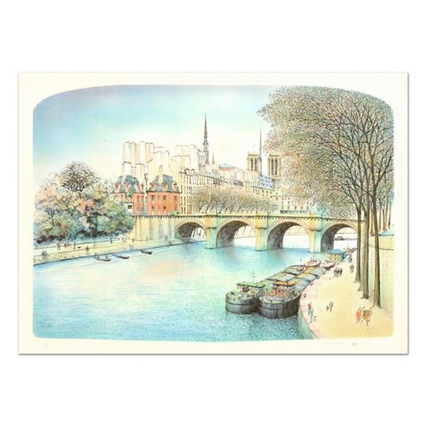 "Rolf Rafflewski, ""Seine II"" Limited Edition Lithograph, Numbered and Hand Signed"