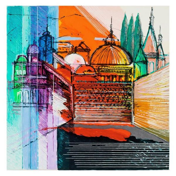 "Calman Shemi, ""Jerusalem Spirit"" Limited Edition Serigraph, Numbered and Hand Si"