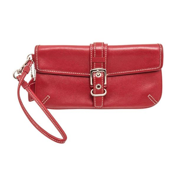Coach Red Buckle Wristlet