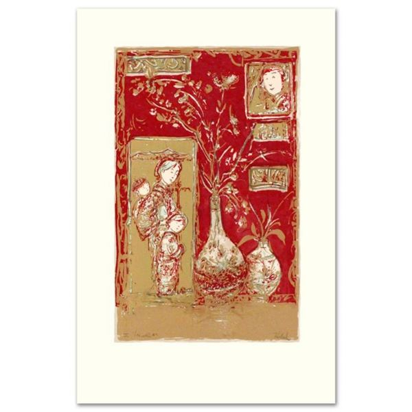 """Oriental Delight"" Limited Edition Serigraph by Edna Hibel (1917-2014), Numbered"
