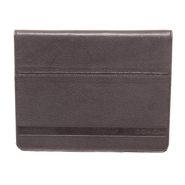 Coach Black Leather Camden Ipad case
