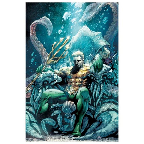 "DC Comics, ""Aquaman #18"" Numbered Limited Edition Giclee on Canvas by Paul Pelle"