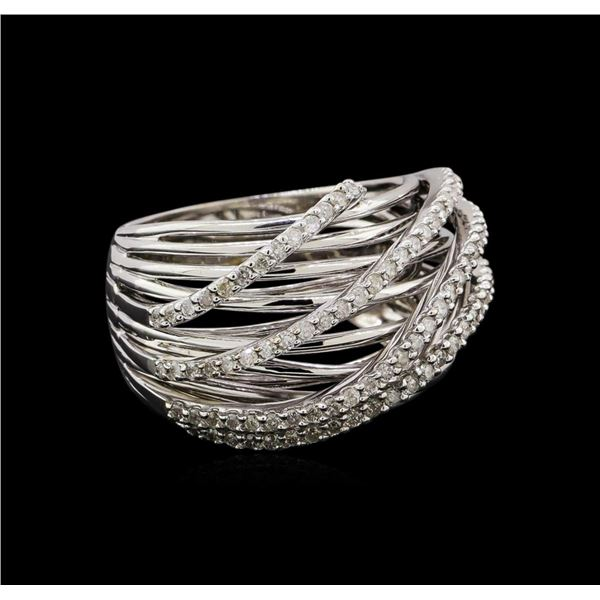 14KT White Gold 0.32 ctw Diamond Ring