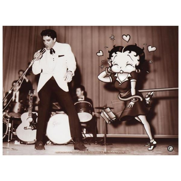 """Starstruck Betty (with Elvis)"" Limited Edition Lithograph from King Features Sy"