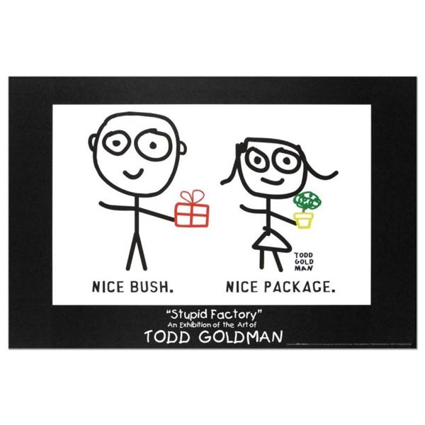 """Nice Package. Nice Bush."" Collectible Lithograph (36"" x 24"") by Renowned Pop Ar"