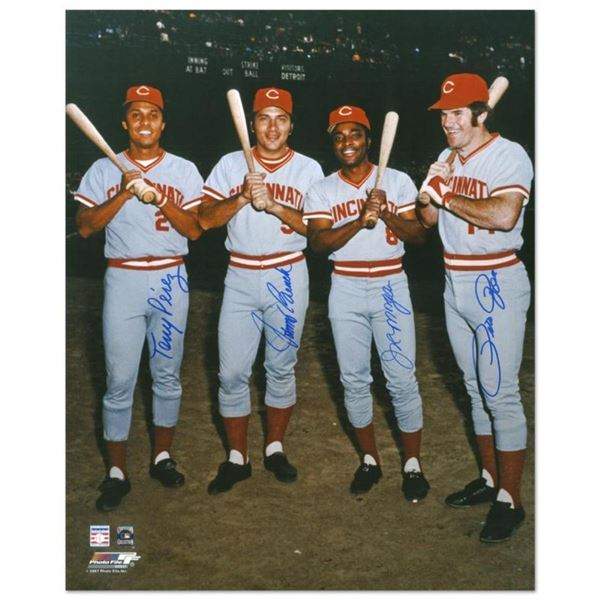"""The Big Four"" Photograph Autographed by the Big Red Machine's Johnny Bench, Ton"