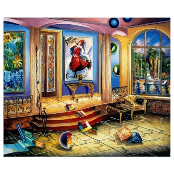 """Alexander Astahov, """"Modern Room"""" Hand Signed Limited Edition Giclee on Canvas wi"""