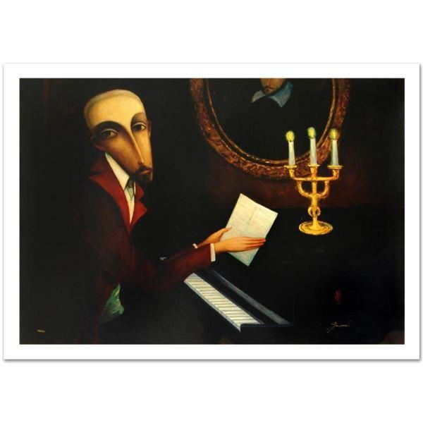 "Sergey Smirnov (1953-2006), ""Tchaikovsky"" Limited Edition Mixed Media on Canvas"