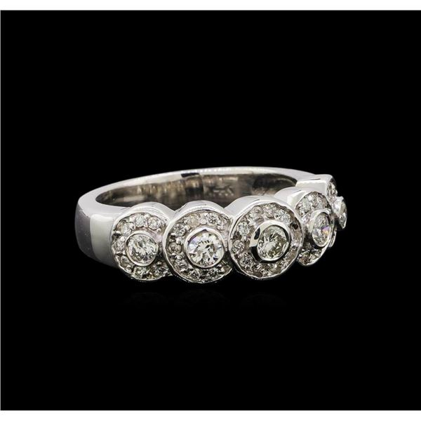 14KT White Gold 0.67 ctw Diamond Ring