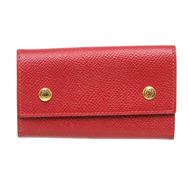 Hermes Red Epsom Leather 6 Key Holder