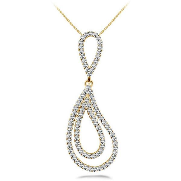 18k Gold 0.72CTW Diamond Pendant, (SI2/H-I)