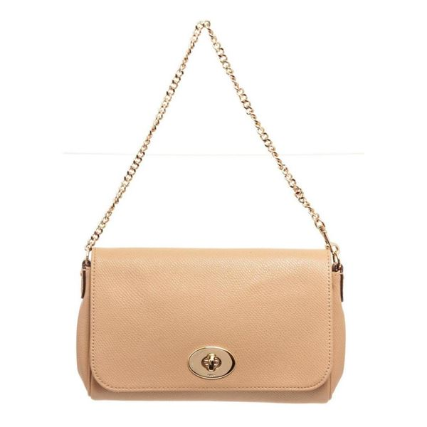Coach Beige Leather Ruby Shoulder Bag