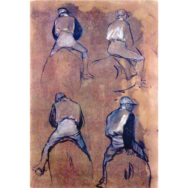 Edgar Degas - Four Studies Of Jockeys