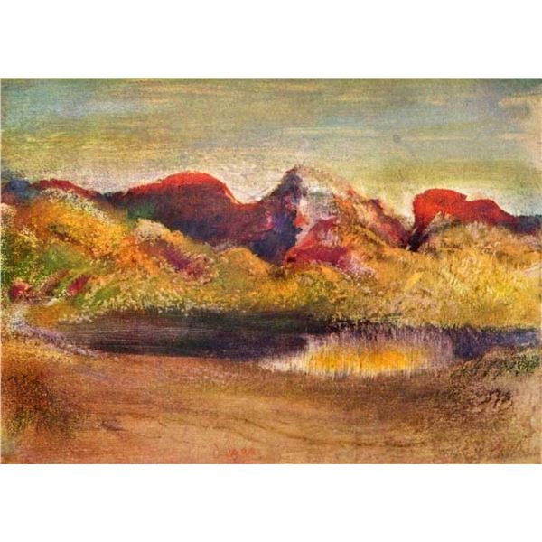Edgar Degas - Lake And Mountains