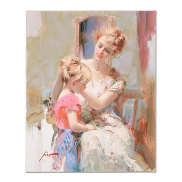 "Pino (1939-2010), ""The Recital"" Artist Embellished Limited Edition on Canvas, Nu"