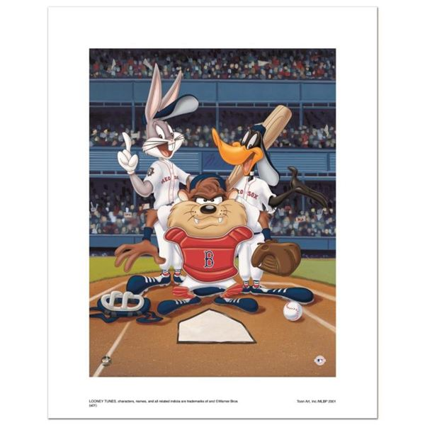 """At the Plate (Red Sox)"" Numbered Limited Edition Giclee from Warner Bros. with"