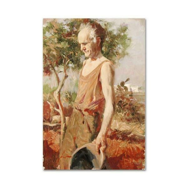 "Pino (1939-2010), ""Afternoon Chores"" Artist Embellished Limited Edition on Canva"