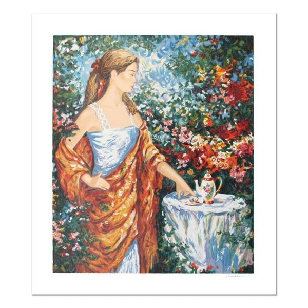 "Igor Semeko, ""Tea Time"" Hand Signed Limited Edition Serigraph with Letter of Aut"