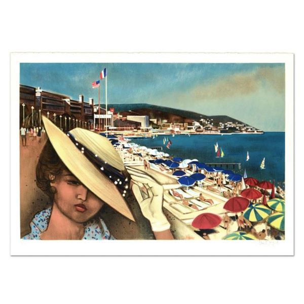 "Robert Vernet Bonfort, ""Cannes"" Limited Edition Lithograph, Numbered and Hand Si"