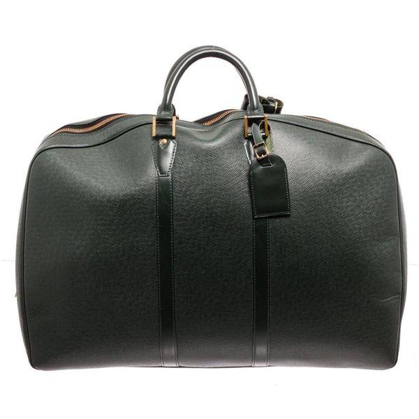 Louis Vuitton Dark Green Leather Kendall GM Handbag