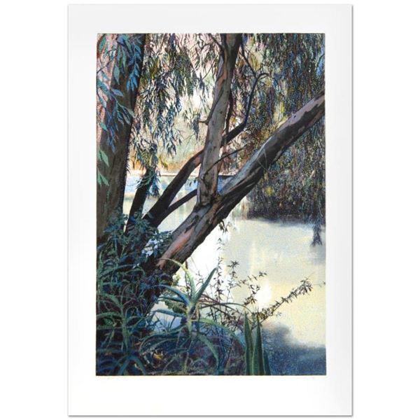 """Jordan River"" Limited Edition Serigraph (25"" x 36"") by Marcus Uzilevsky (1937-2"