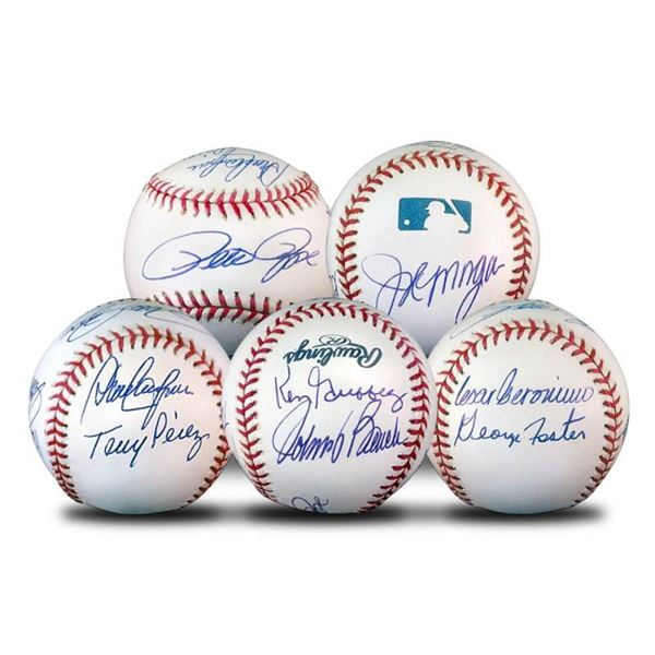 """Starting 8 Ball"" This Baseball Features Signatures from the Big Red Machine's S"