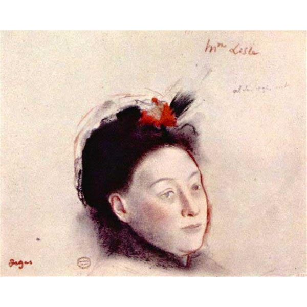 Edgar Degas - Portrait Of Madame Lisle