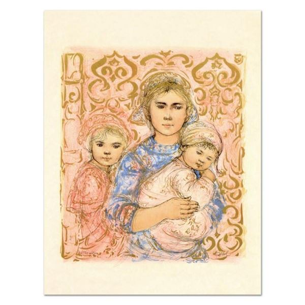 "Edna Hibel (1917-2014), ""Jenet, Mary and Wee Jenet"" Limited Edition Lithograph o"