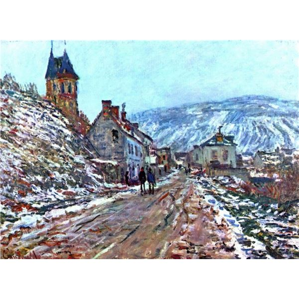 Claude Monet - Road to Vetheuil in Winter