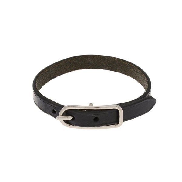 Hermes Black Leather 1 Bracelet