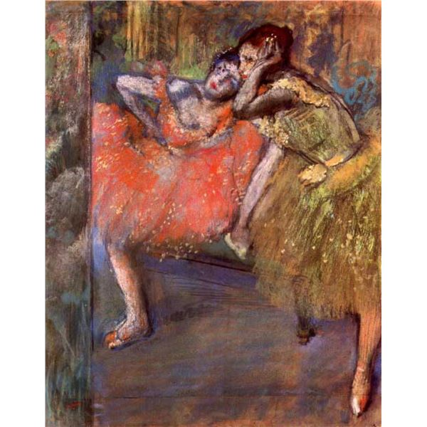 Edgar Degas - Two Dancers Behind The Scenes