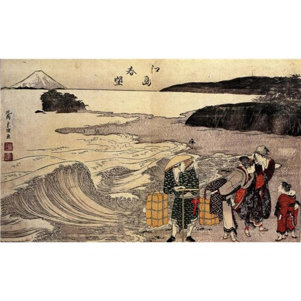Hokusai - Women on the Beach of Enoshima