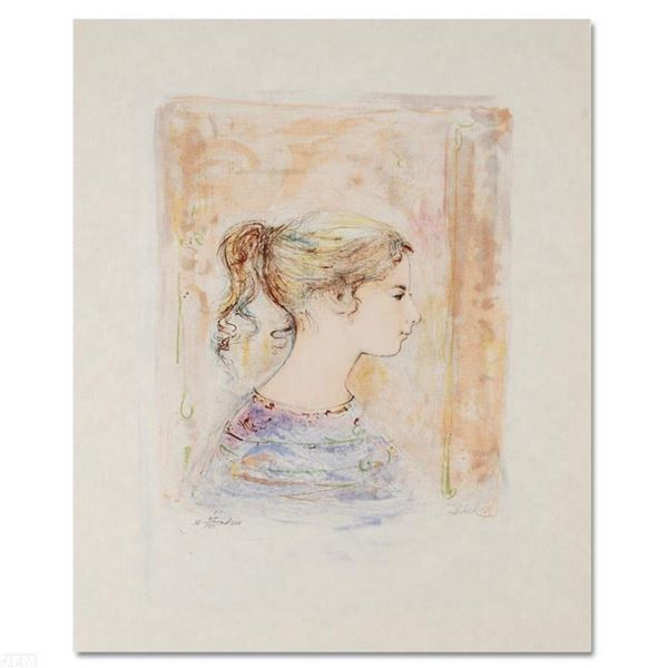 """Sami #11"" Limited Edition Lithograph by Edna Hibel (1917-2014), Numbered and Ha"