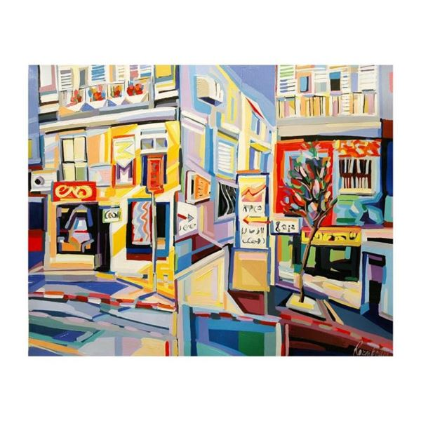 "Natalie Rozenbaum, ""Corner At Bugrashov"" Limited Edition on Canvas, Numbered and"