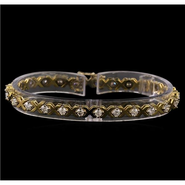 14KT Yellow Gold 2.23 ctw Diamond Tennis Bracelet
