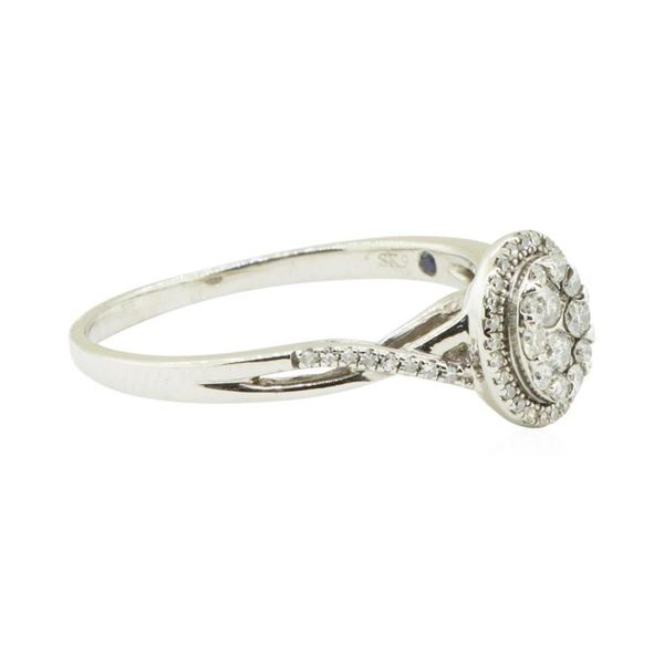 0.50 ctw Oval Cluster Diamond Ring - Platinaire