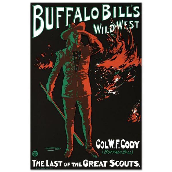 "RE Society, ""Buffalo Bills Wild West"" Hand Pulled Lithograph, Image Originally b"