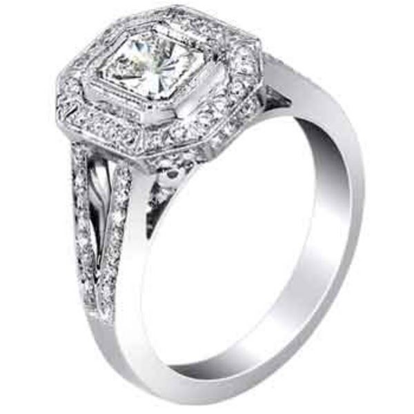 18k White Gold 1.32CTW Diamond Ring, (VS1-VS2/G-H)