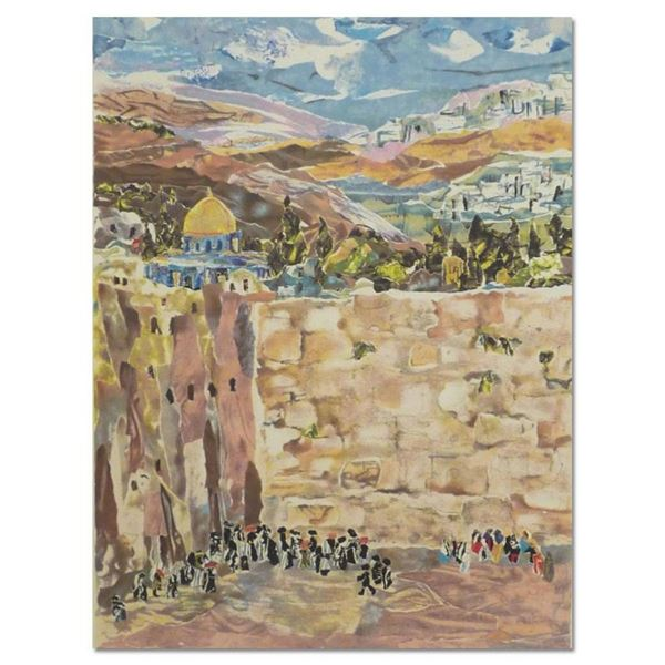 """Judith Yellin, """"Kotel"""" Hand Signed Limited Edition Serigraph with Letter of Auth"""