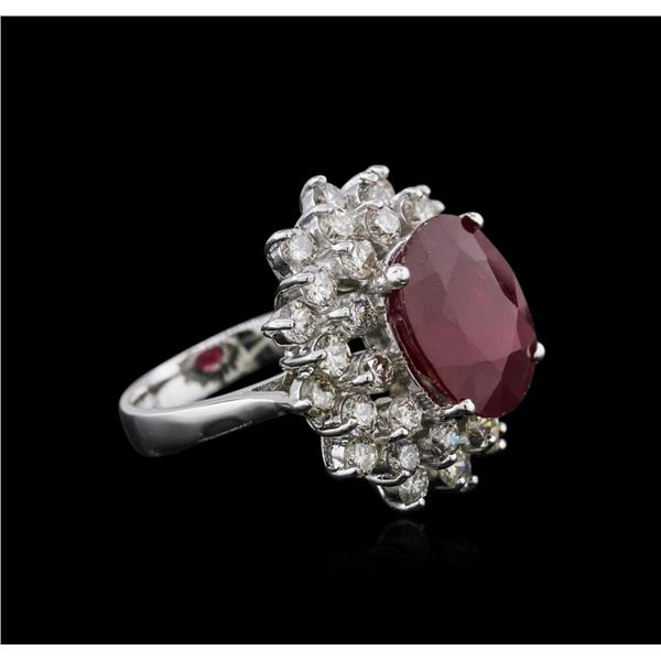 14KT White Gold 8.92 ctw Ruby and Diamond Ring