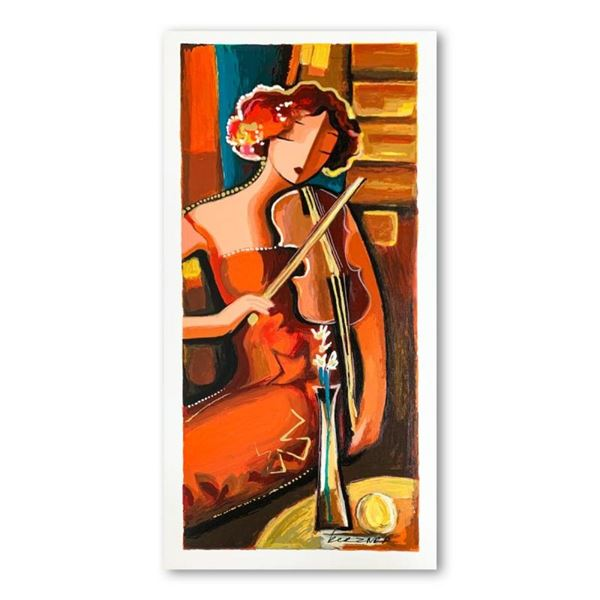 """Michael Kerzner, """"The Violinist"""" Hand Signed Limited Edition Serigraph on Paper"""