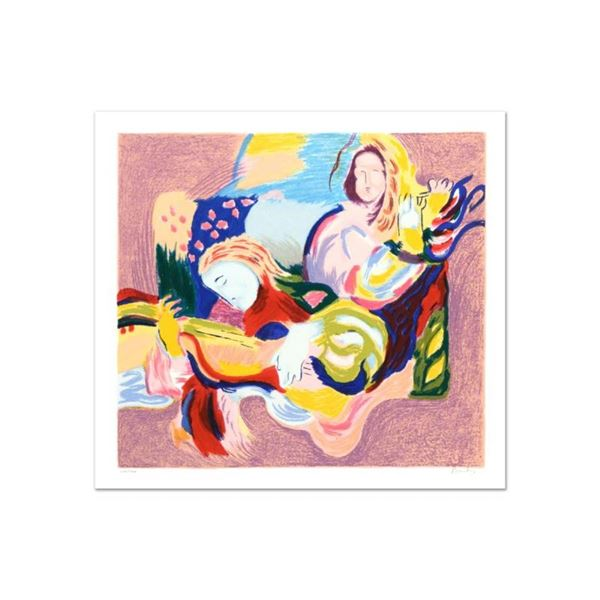 "David Bovetez, ""Fiesta"" Limited Edition Lithograph, Numbered and Hand Signed."