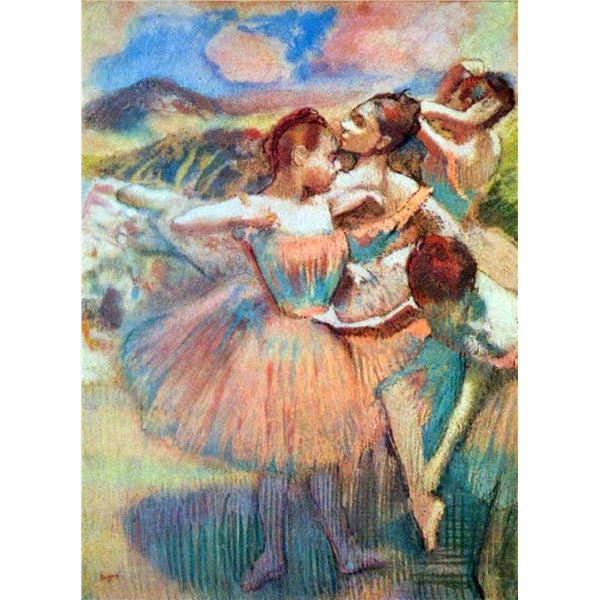 Edgar Degas - Dancers In The Landscape