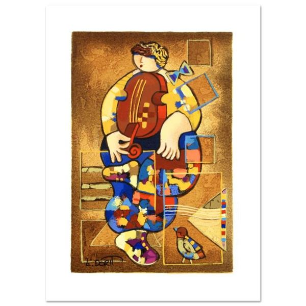 """Dorit Levi, """"Merry Violin"""" Limited Edition Serigraph, Numbered and Hand Signed w"""